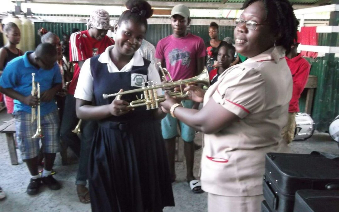 Musical instruments donated or purchased, now well over 75